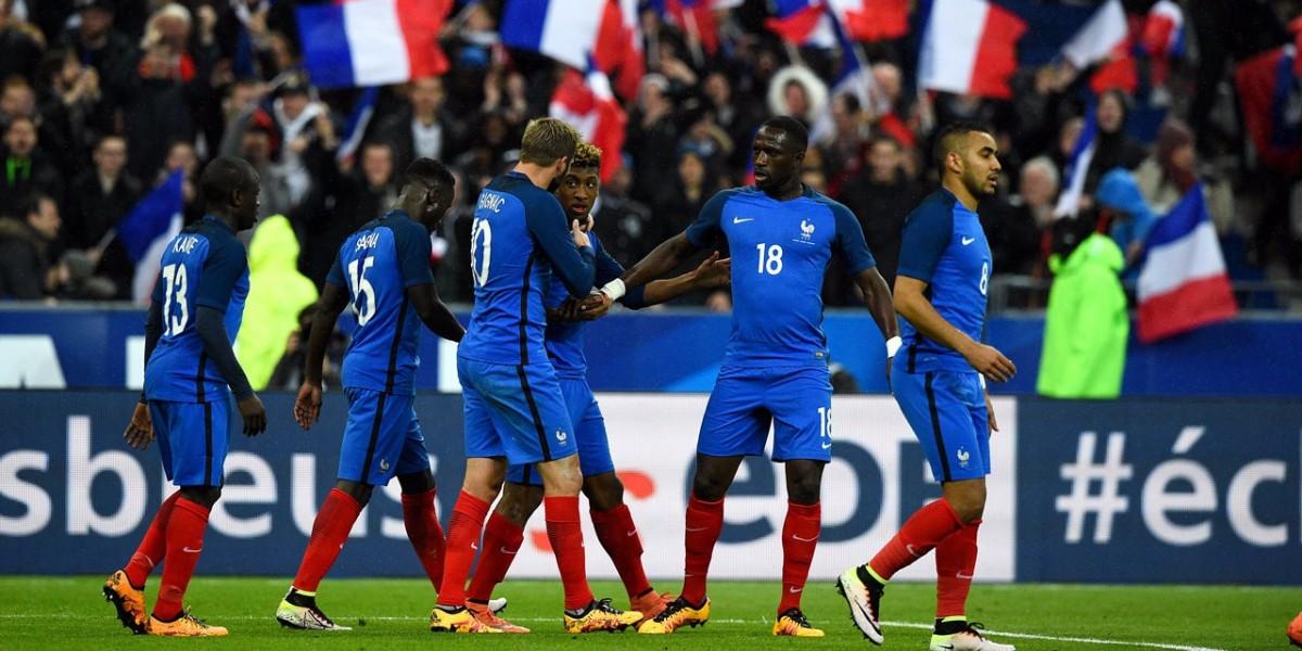 Lors du match France-Allemagne