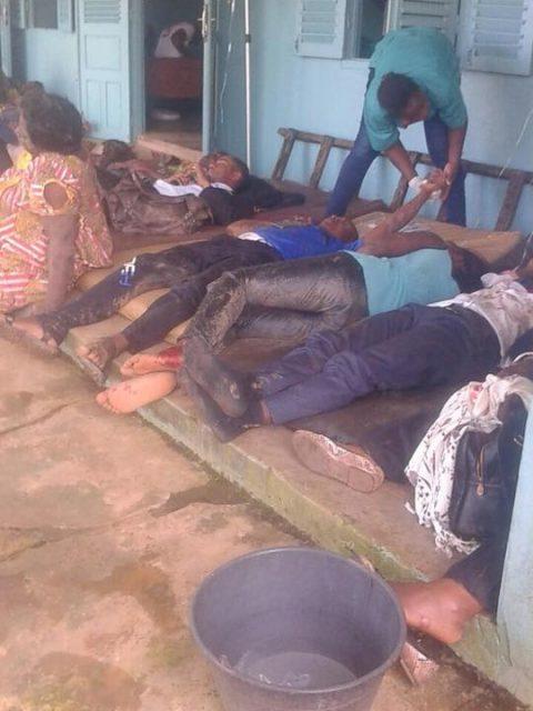 Vendredi noir : les accidentés abandonnés dans un hôpital public à Eséka. Crédit photo : facebook