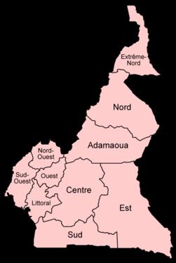 Provinces du Cameroun.