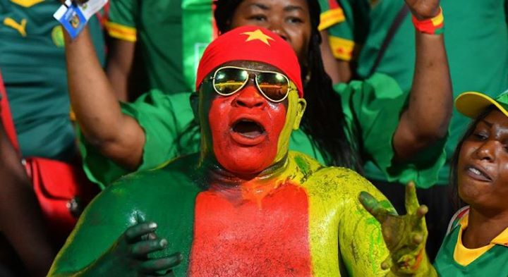 Supporters des Lions indomptables en liesse