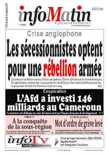 Presse sabotant la Crise anglophone
