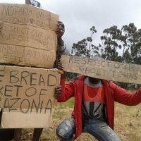 Manifestants pendant la crise anglophone