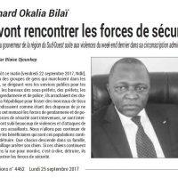 L'un des Acteurs : le gouverneur Okalia Bilaï Bernard