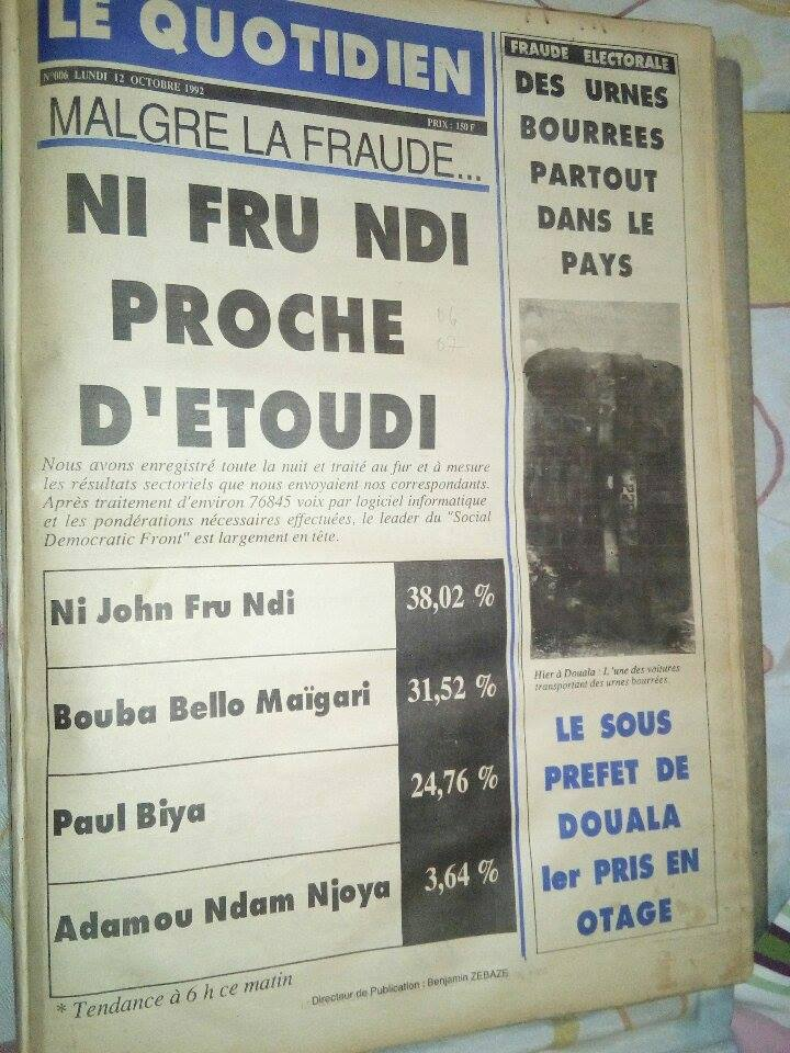 Presse camerounaise et journalisme professionnel