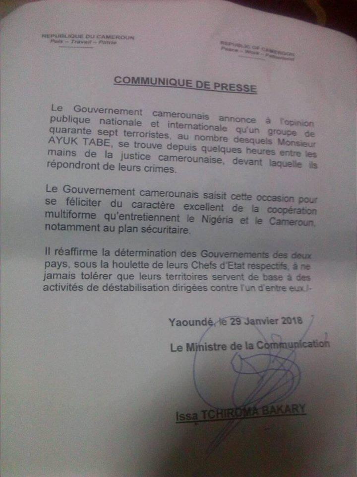 communique-extradition-des-leaders-anglophones-au-cameroun-matango-club