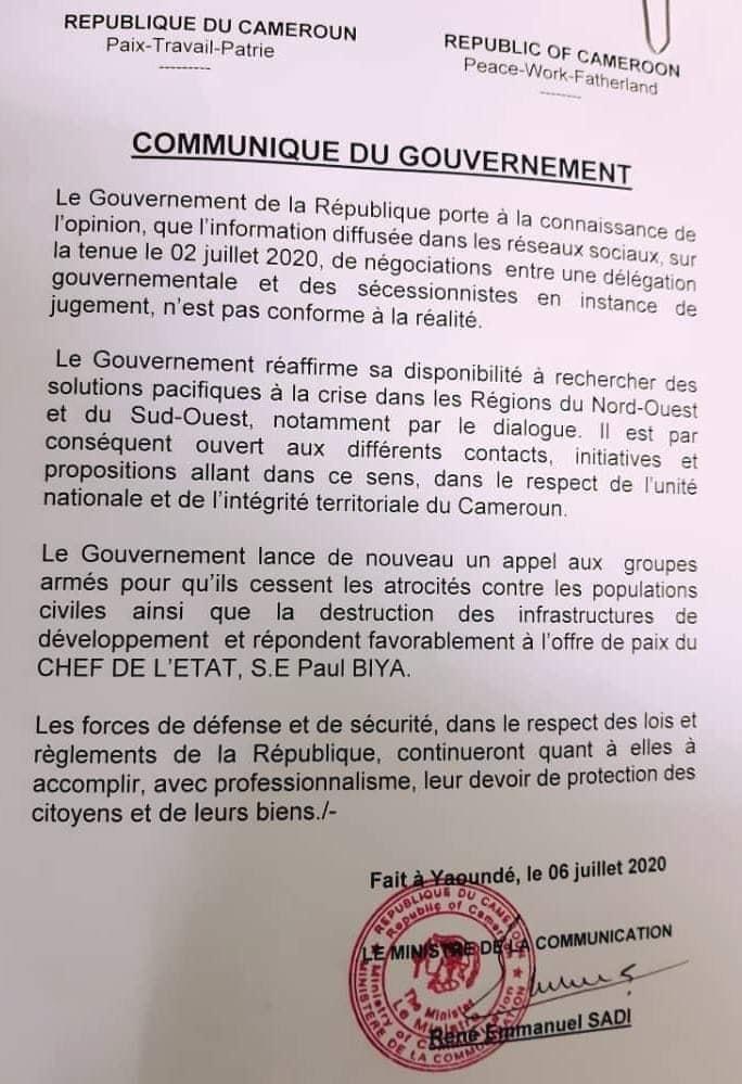 communique-cameroun-rene-sadi